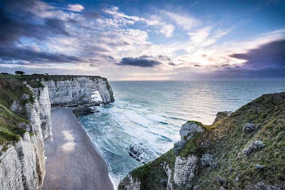 Coastline in Normandy