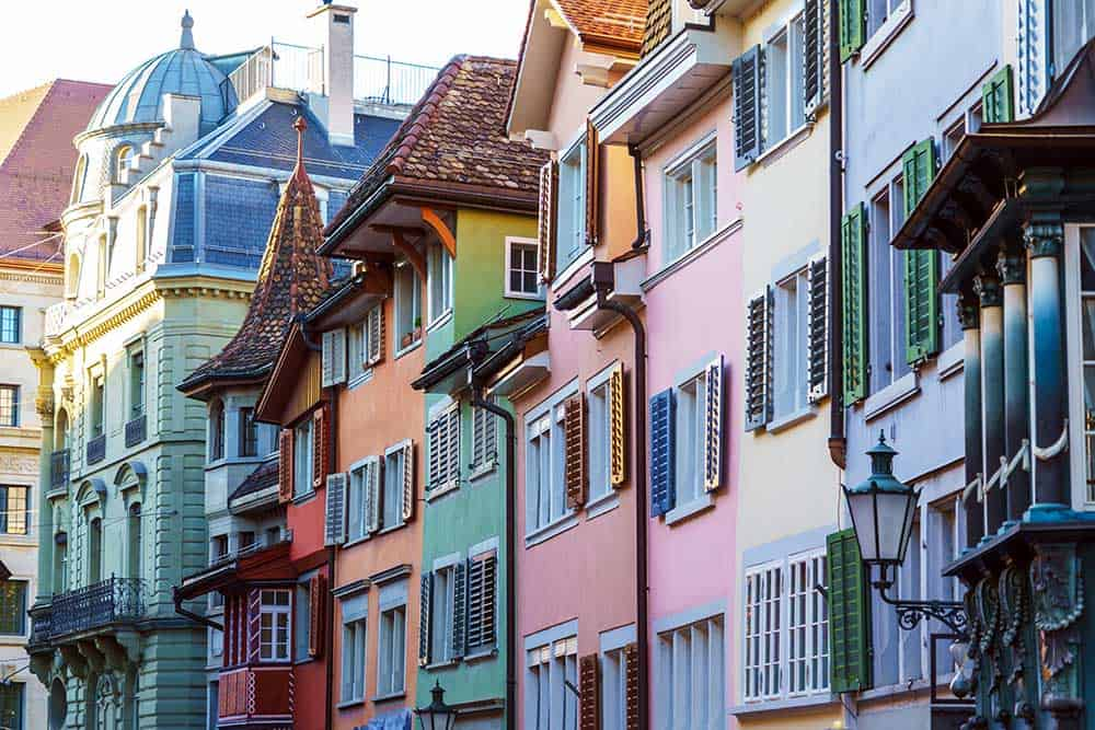 Colourful Houses in Old Town Altstadt