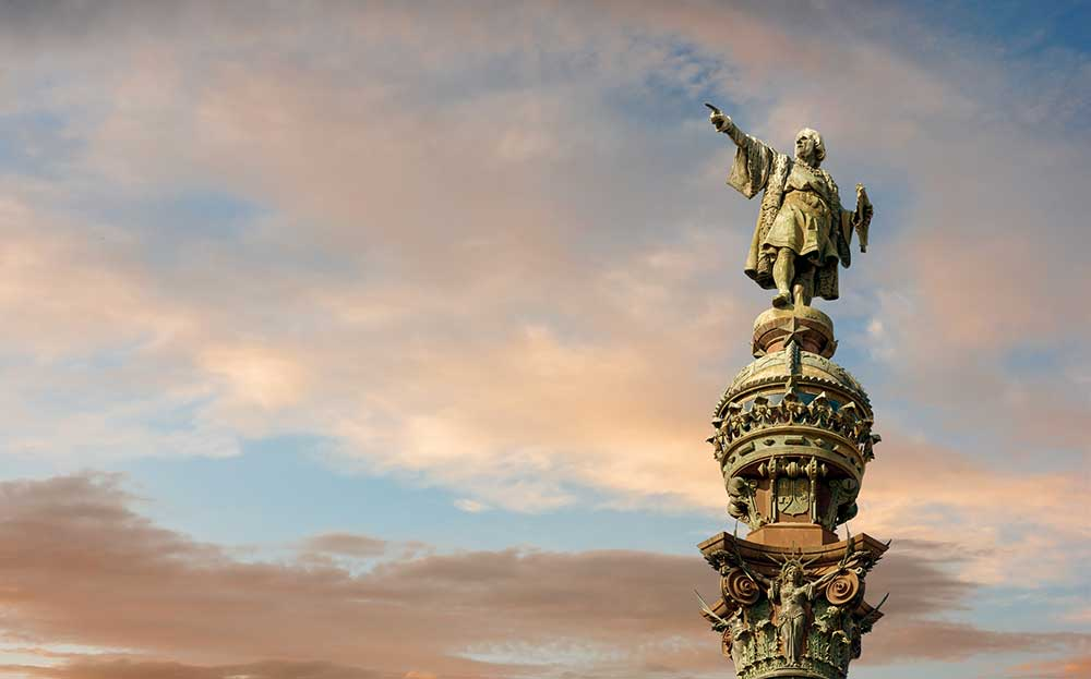 Columbus Monument in Barcelona
