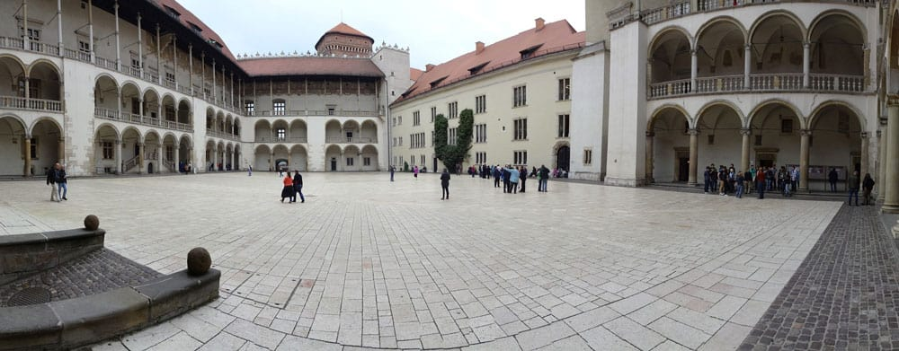 Courtyard at Wawel Castle in Krakow, Poland
