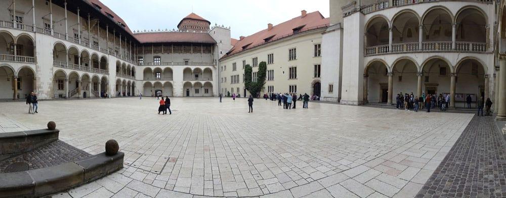Courtyard at Wawel Castle