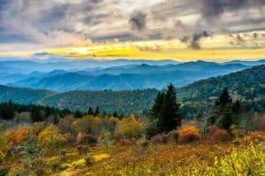 Cowee Mountains on Blue Ridge Parkway