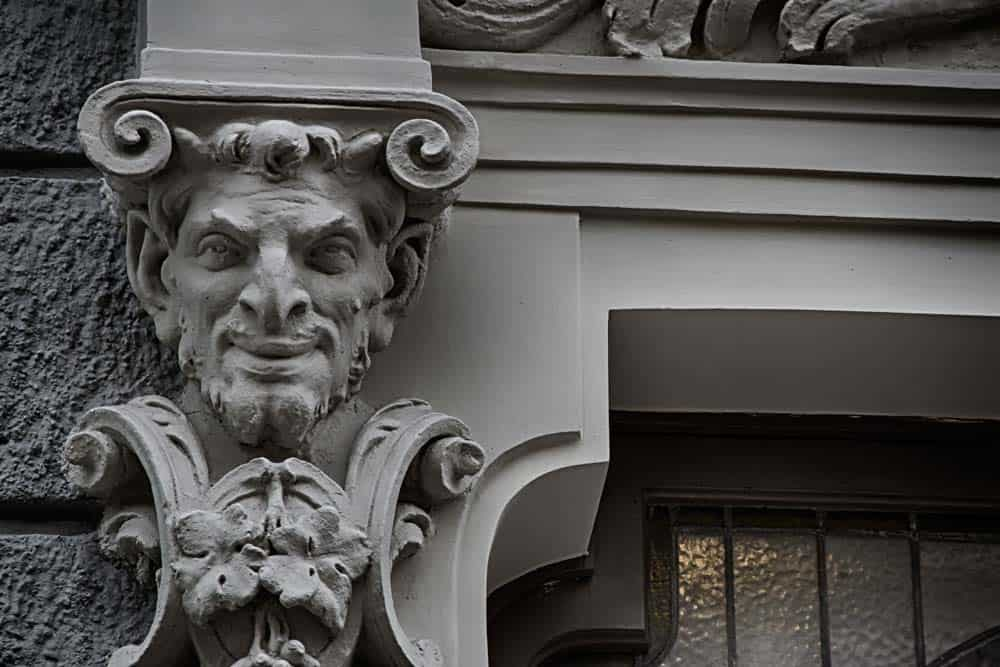 Devilish Grin Art Nouveau in Riga, Latvia