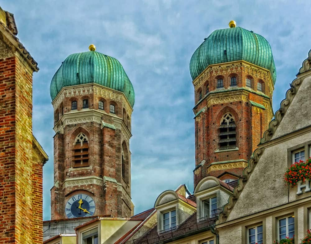 Twin Domes of Frauenkirche in Munich, Germany