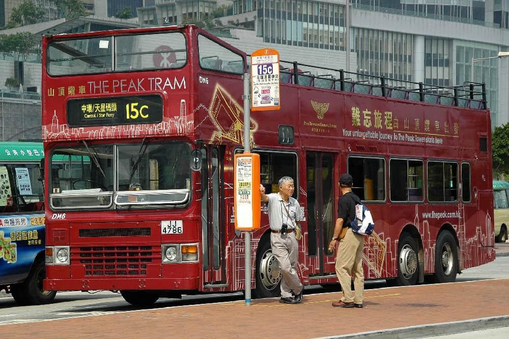 Double-Decker Bus in Hong Kong