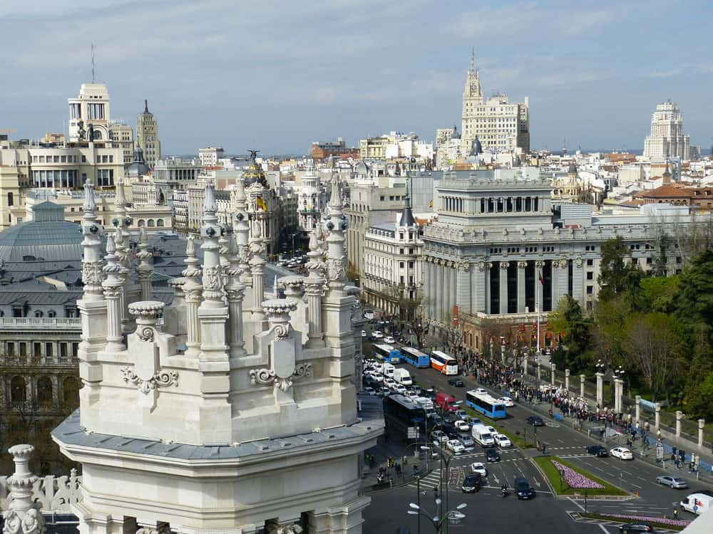 Downtown Madrid, Spain