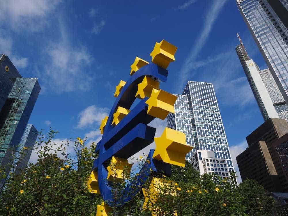 European Central Bank in Bankenviertel