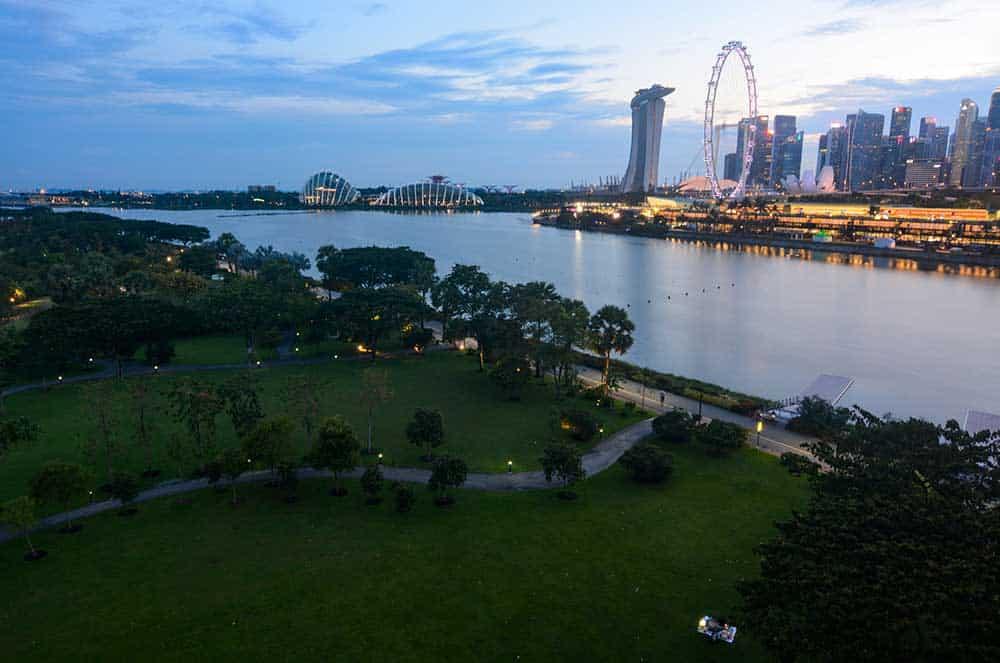 Bay East Garden in Evening