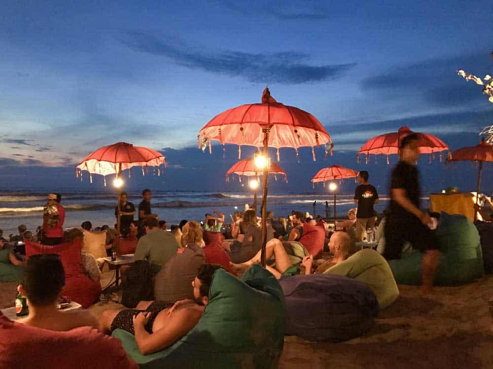 Evening Beach Bar Seminyak