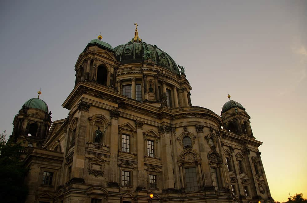 Evening at the Berliner Dom in Berlin, Germany