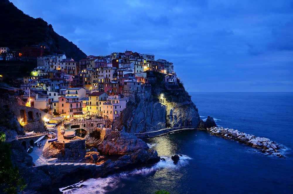 Evening in Cinque Terre, Italy