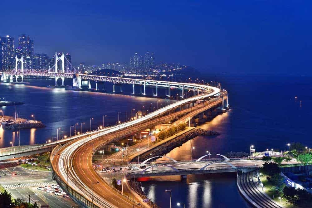 Evening @ Gwangandaegyo Bridge in Busan, Korea