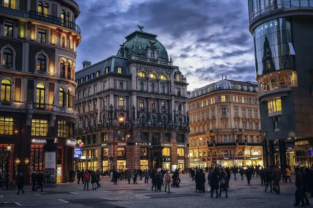 Evening in Vienna, Austria