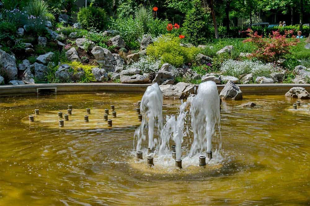 Fountain at Doctor's Garden in Sofia