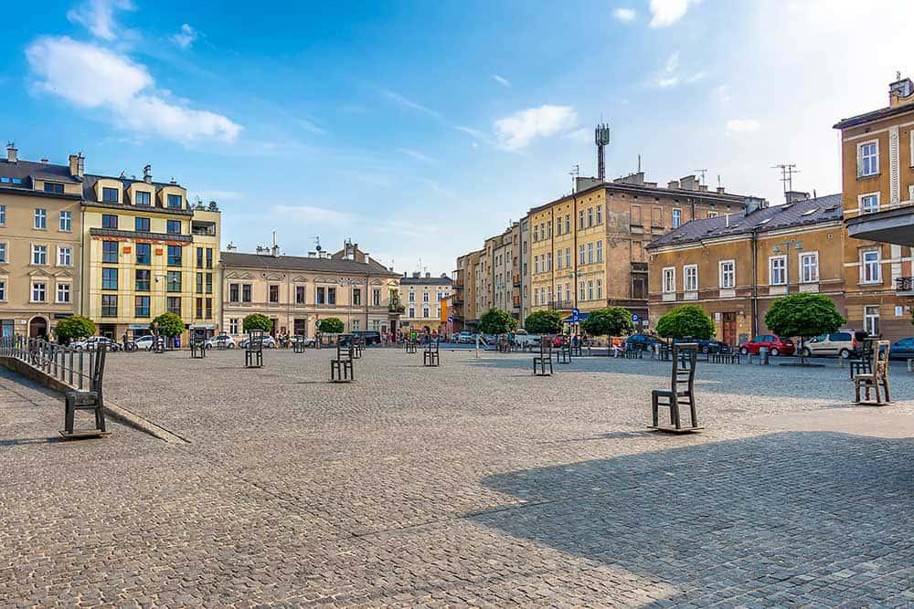 Ghetto Heroes Square in Krakow