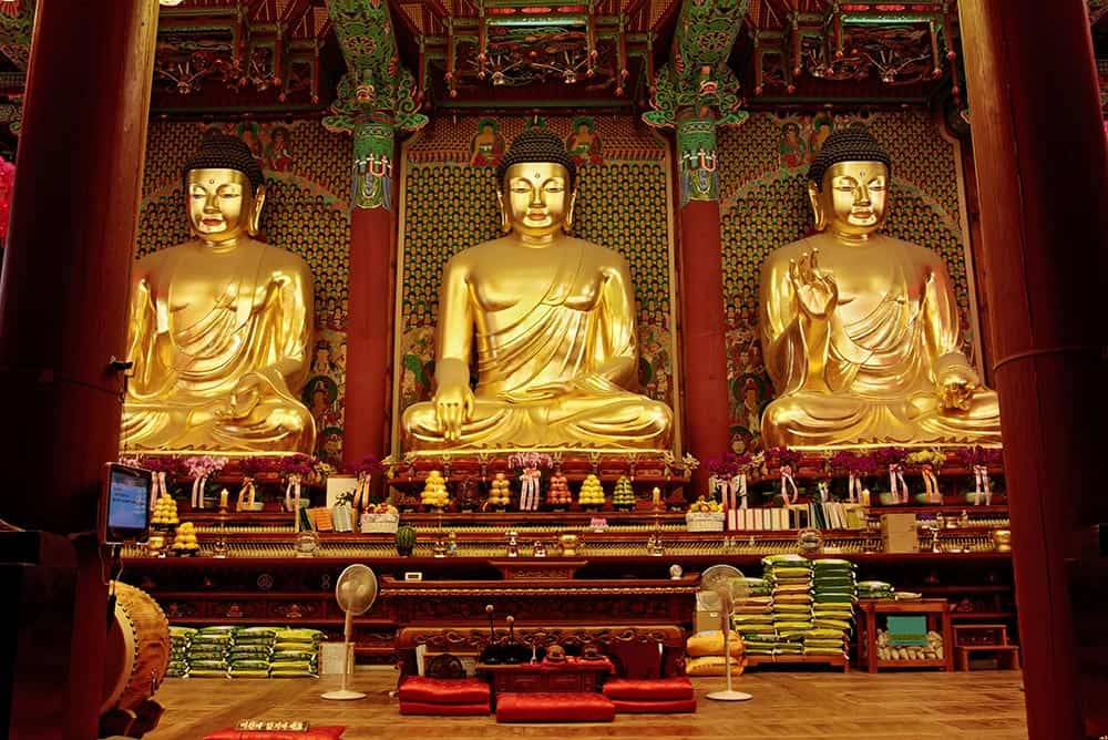 Golden Buddhas at Jogyesa Temple