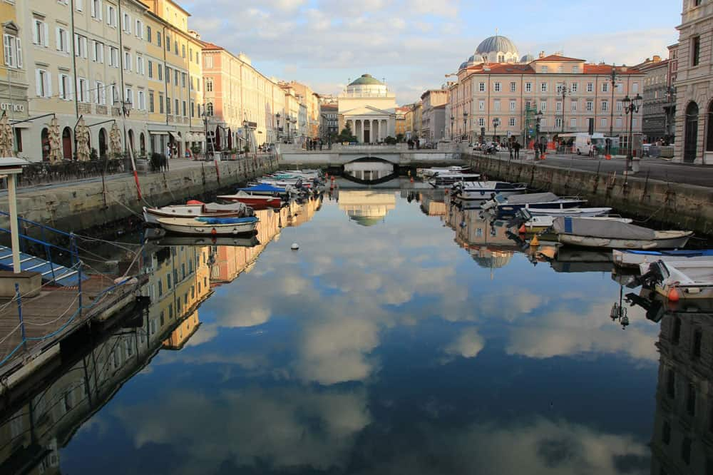 Grand Canal in Trieste, Italy
