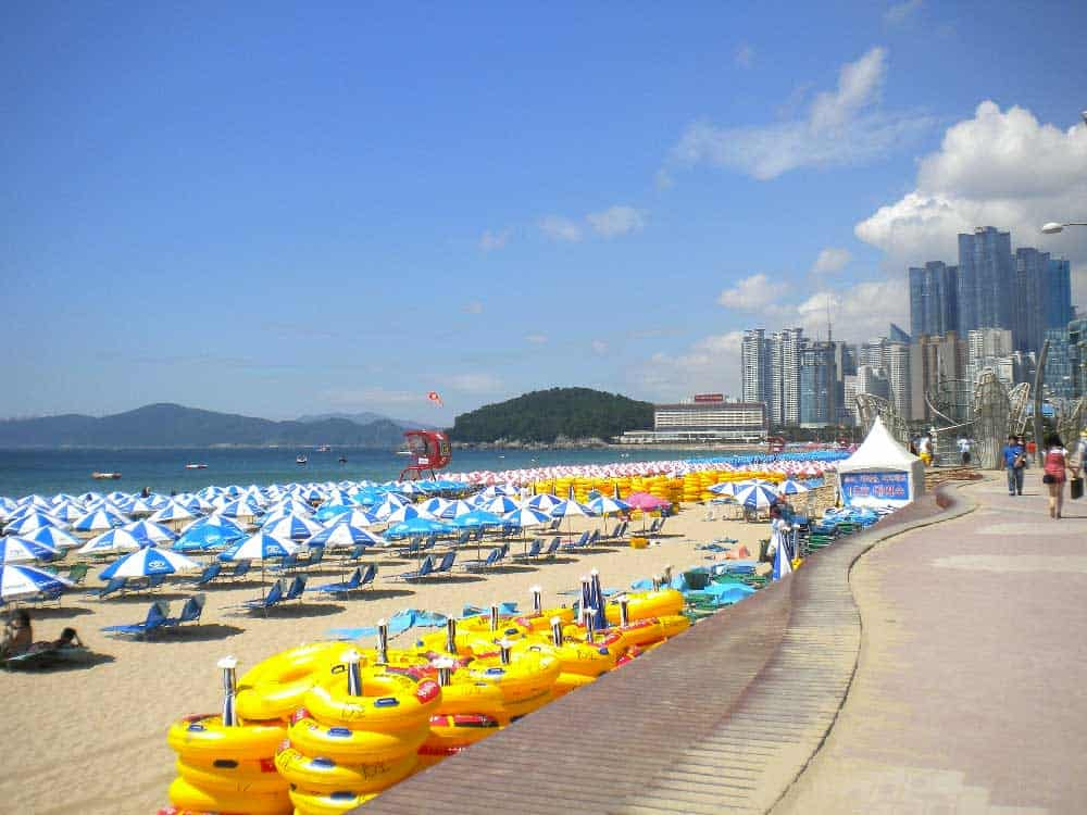 Haeundae Beach in Busan, Korea