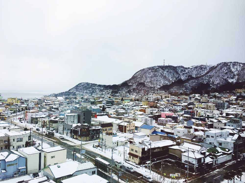 Harbour and City in Hakodate, Japan