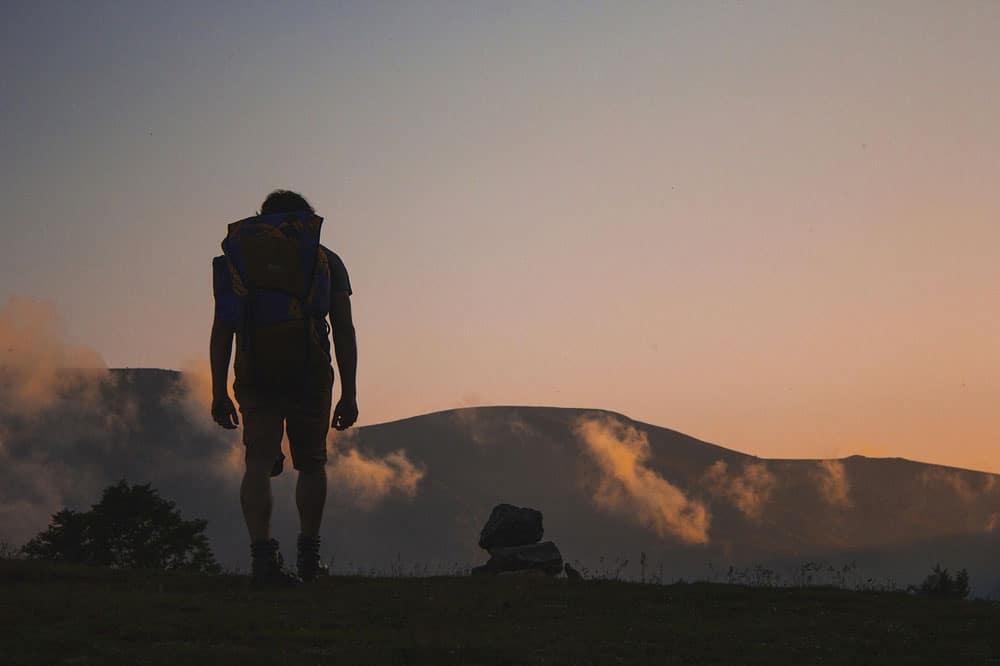 hiker-backpack-hills