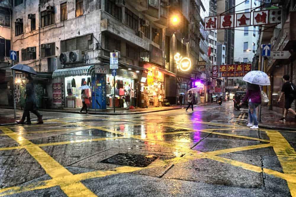 Hillier Street in Sheung Wan