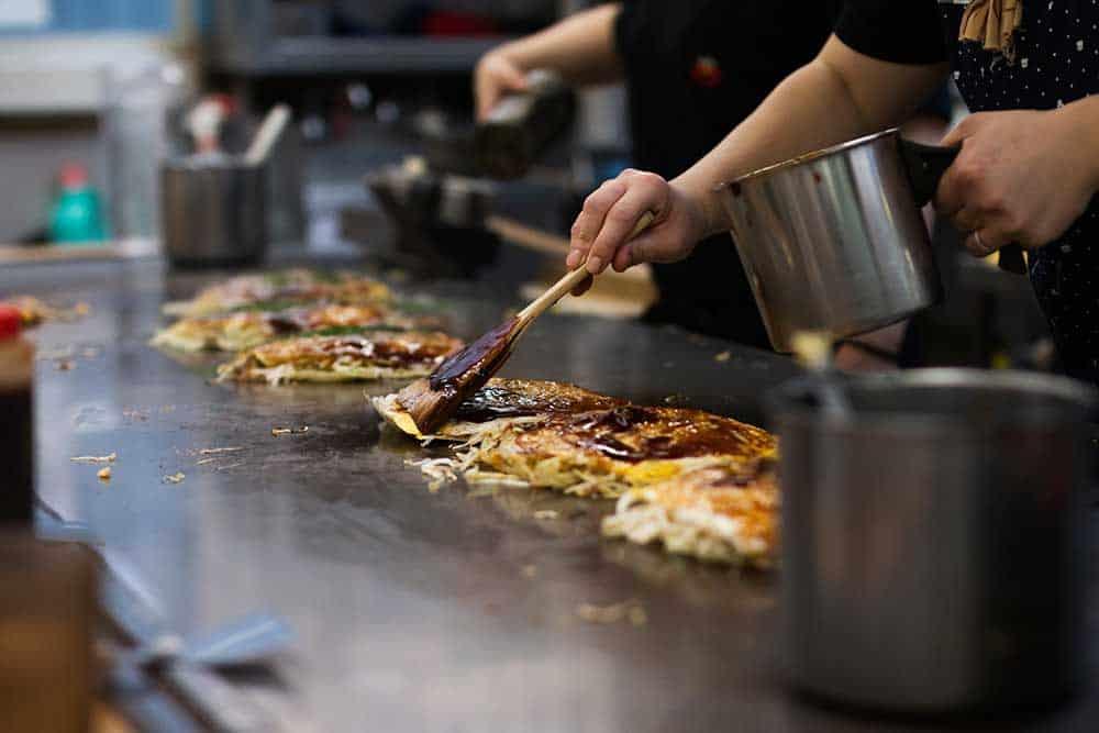 Hiroshimayaki (Okonomiyaki)
