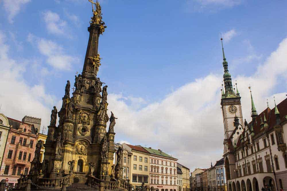 Holy Trinity Column in Olomouc, Czech Republic