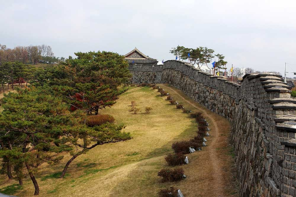 Hwaseong Fortress in Suwon, South Korea