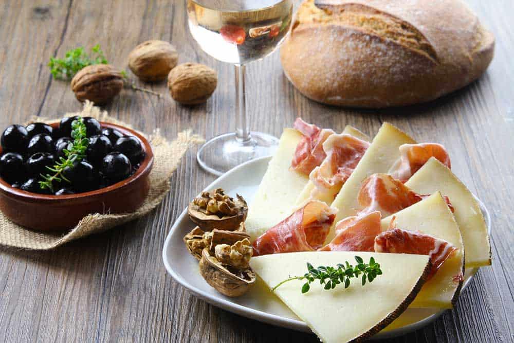 Iberian Ham Manchego Cheese Tapas