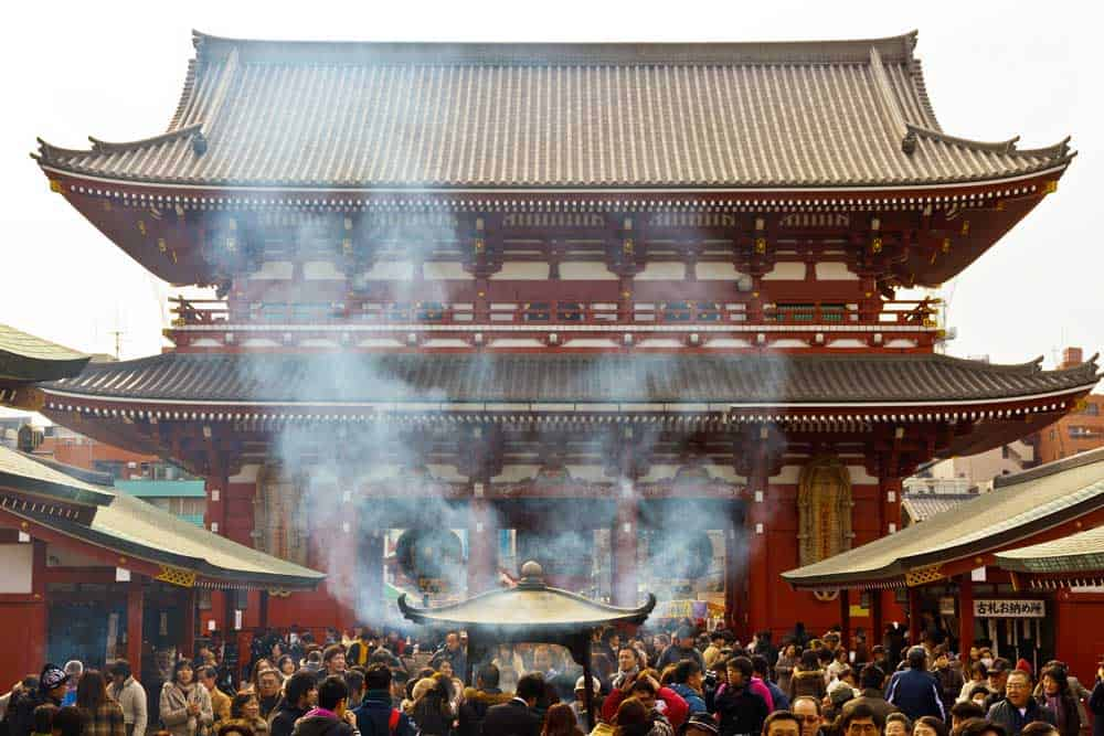 Incense Burning @ Senso-ji Temple in Asakusa, Tokyo, Japan