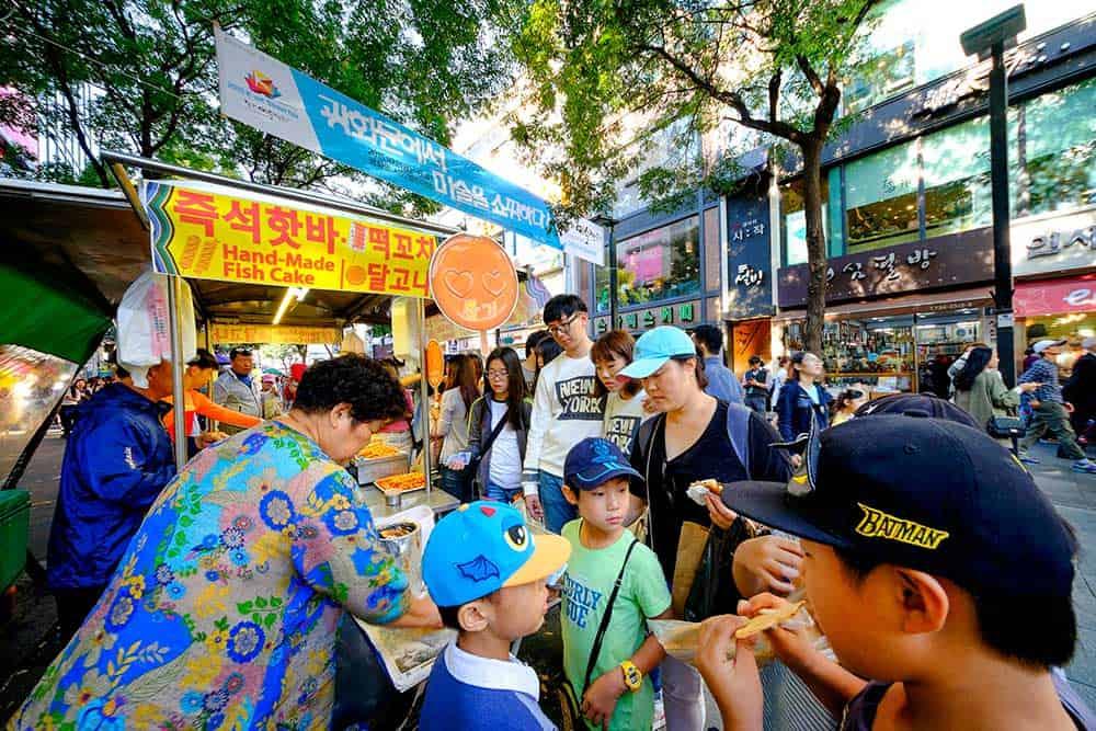 Insadong Shopping Street Food