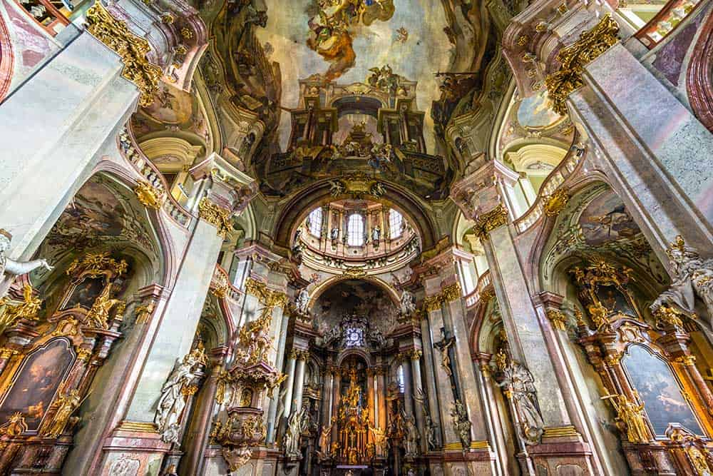 Interior of St. Nicholas Church (Mala Strana)