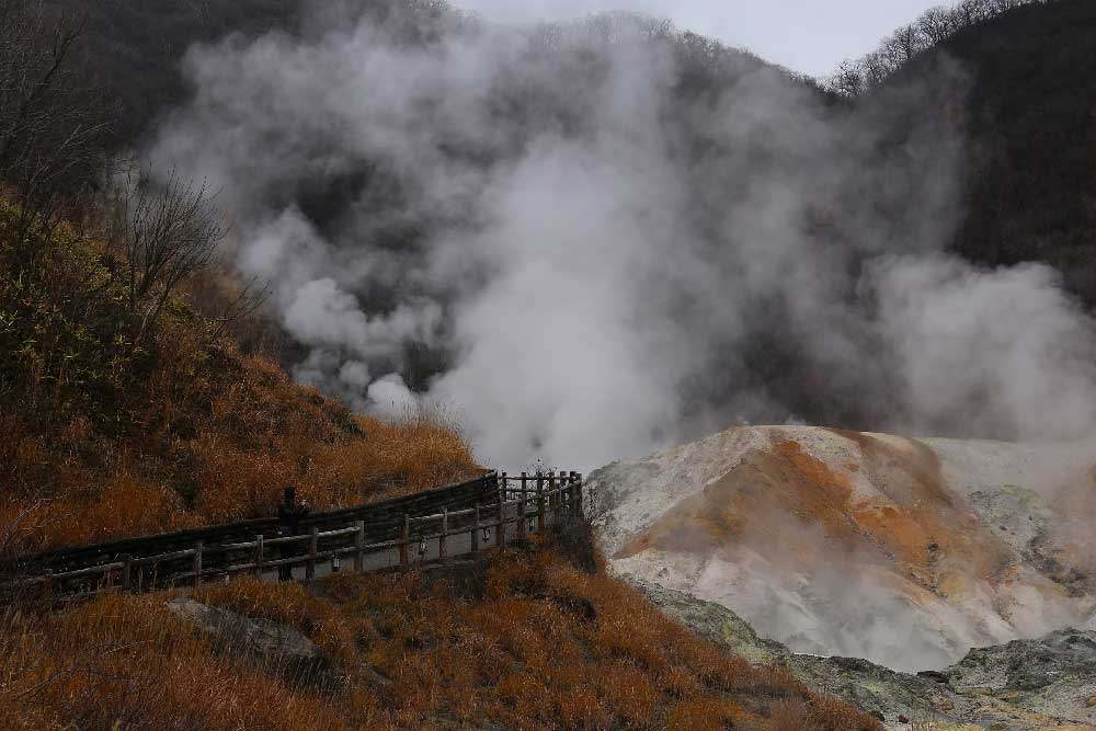 Jigokudani (Hell Valley) in Noboribetsu