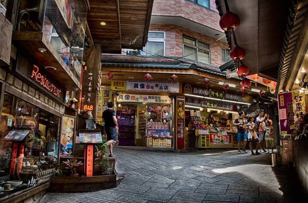 Jiufen Old Street in Jiufen, Taiwan