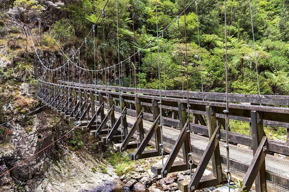Footbridge at Karangahake Gorge
