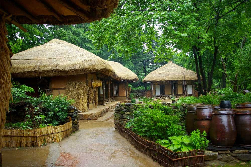 Korean Folk Village in Yongin, Korea