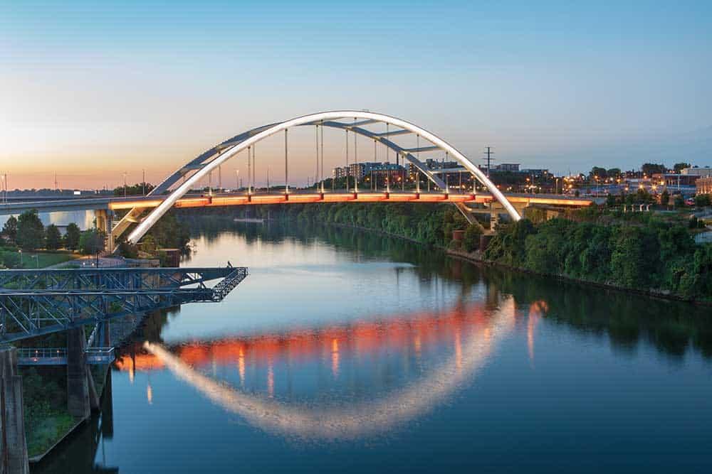 Korean Veterans Memorial Bridge in East Nashville