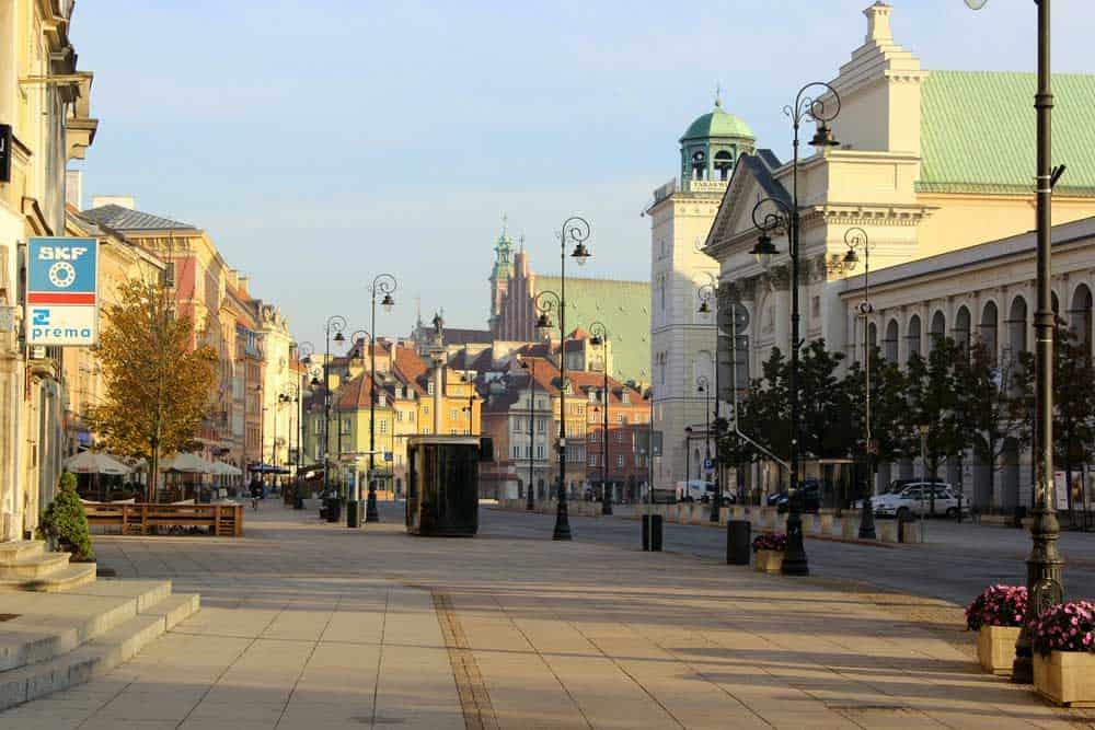 Krakowskie Przedmiescie in Warsaw, Poland
