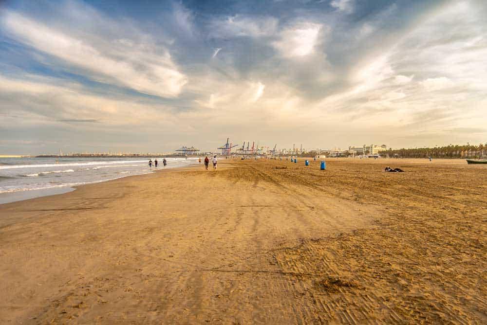 La Malvarrosa Beach in El Cabanyal Valencia