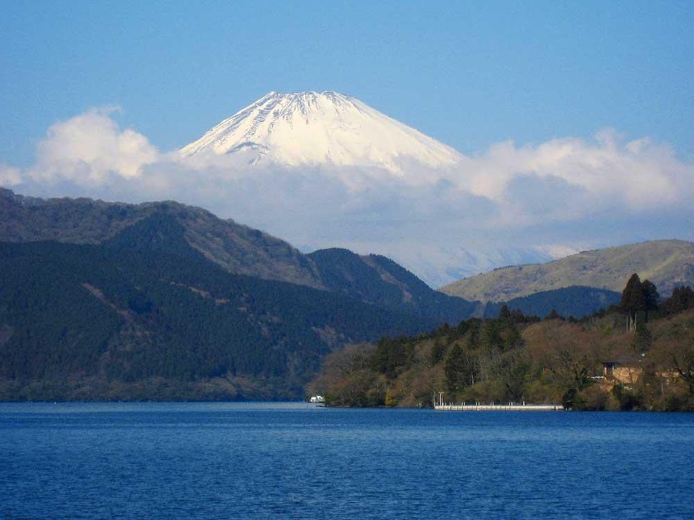 Lake Ashi & Mount Fuji in Japan