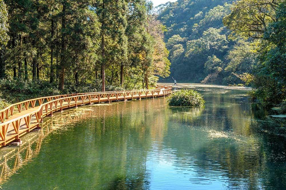 Lake in Yilan County, Taiwan