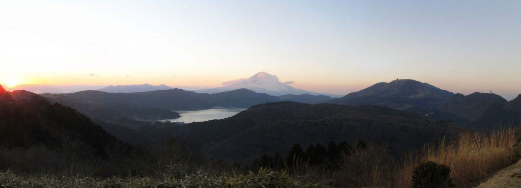 Lakes and Mountains in Hakone, Japan