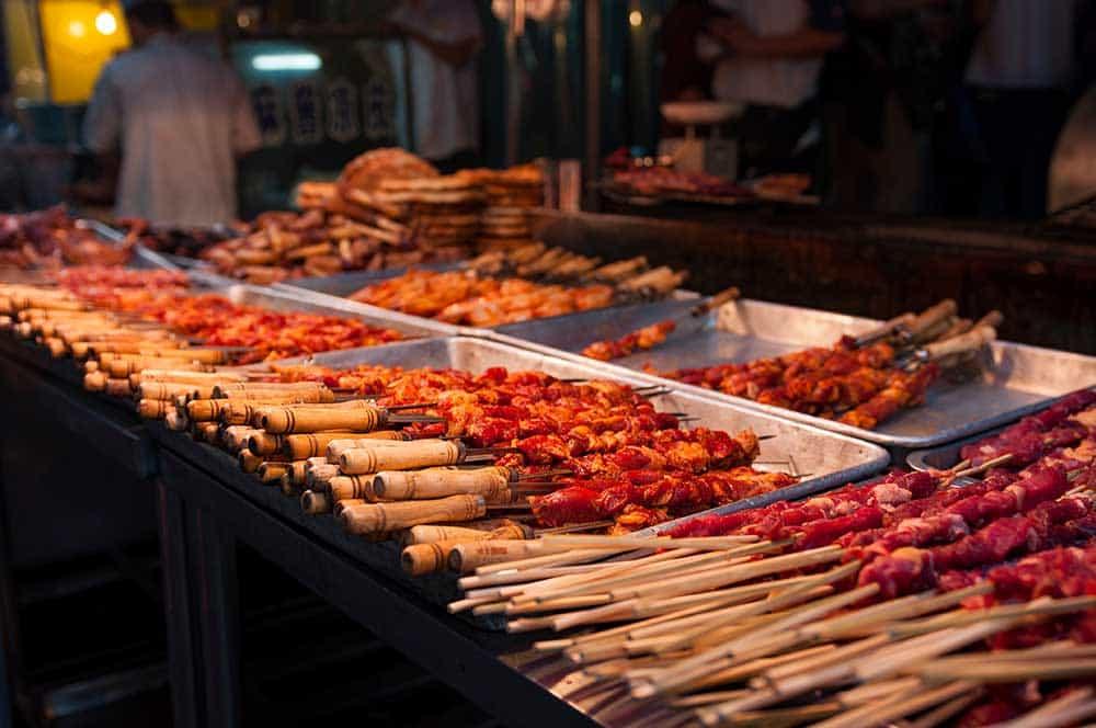Lamb Kebabs in Muslim Quarter, Xian