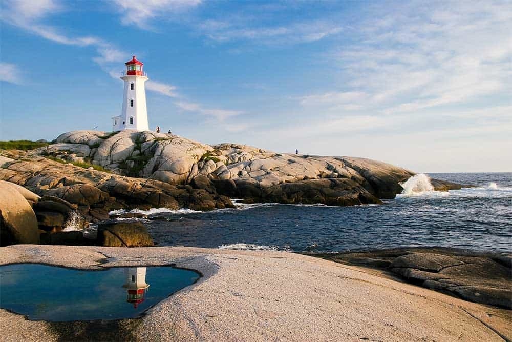 Lighthouse in Peggy's Cove, Nova Scotia
