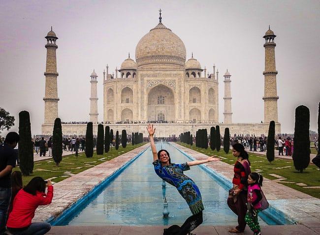 Lillie at The Taj Mahal in India