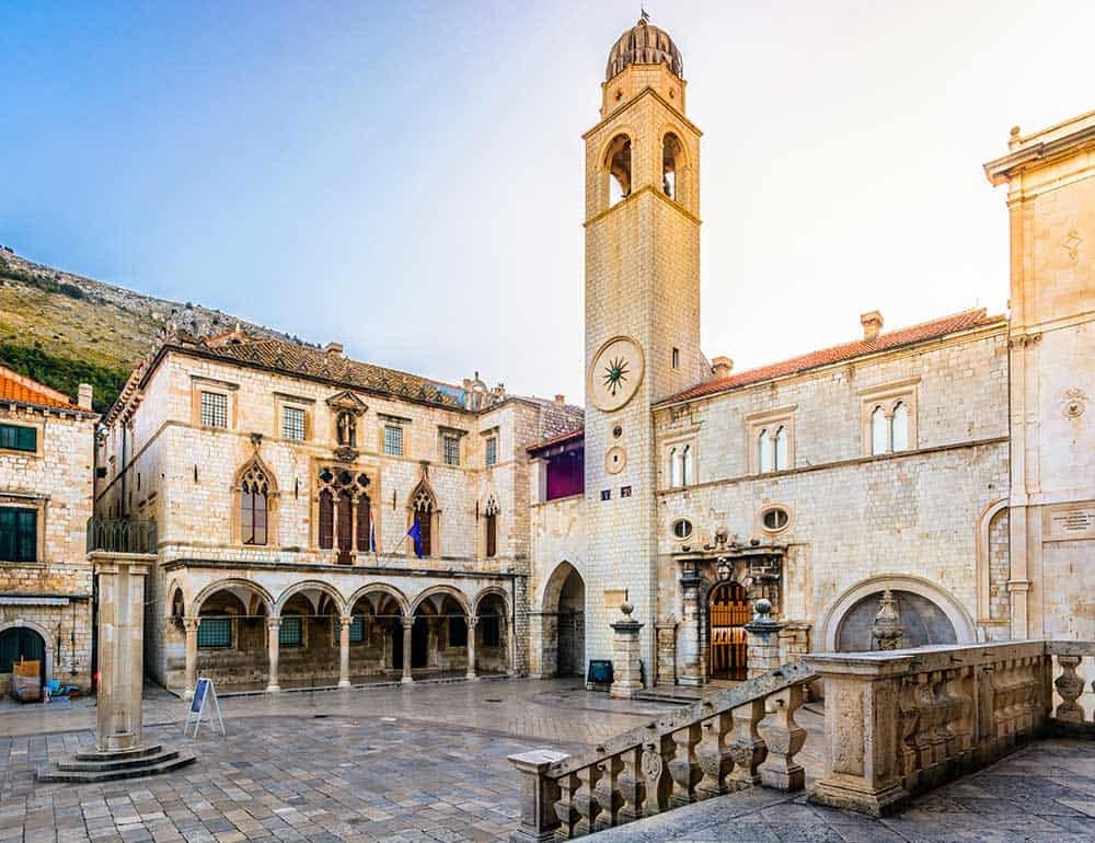 Loggia Square in Dubrovnik