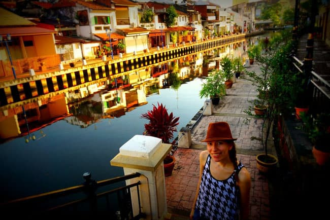 Audrey on Malacca River walking tour in Malaysia