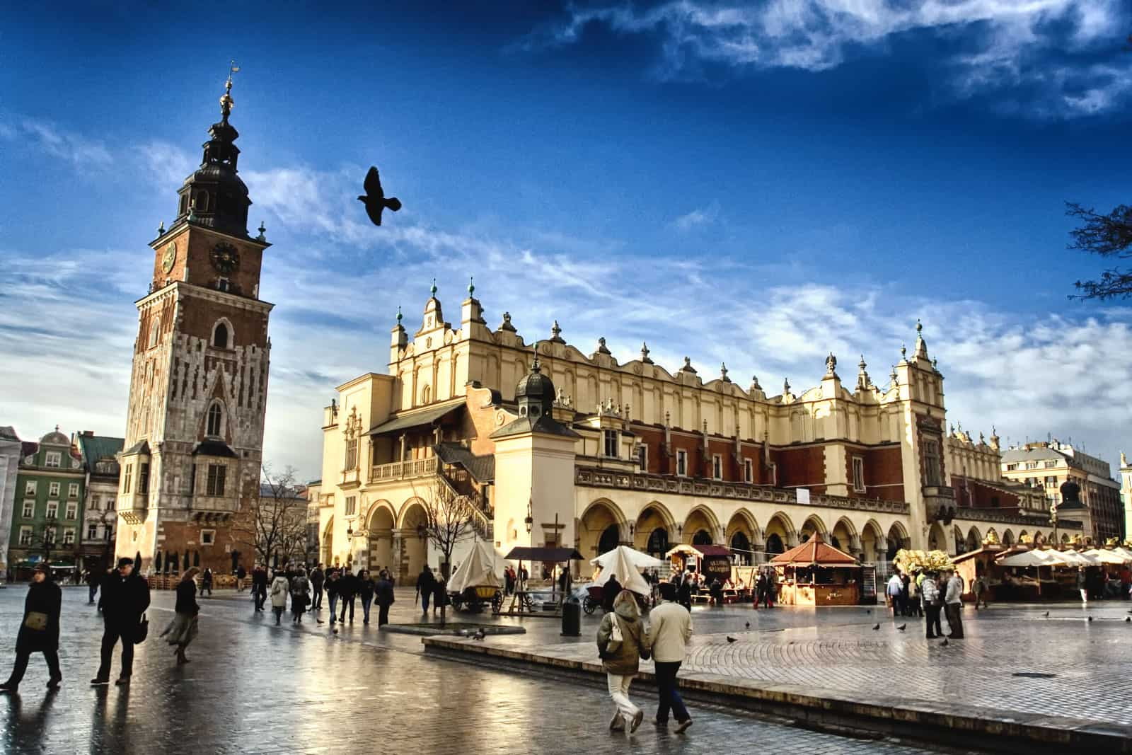 Market Square in Old Town, Krakow, Poland