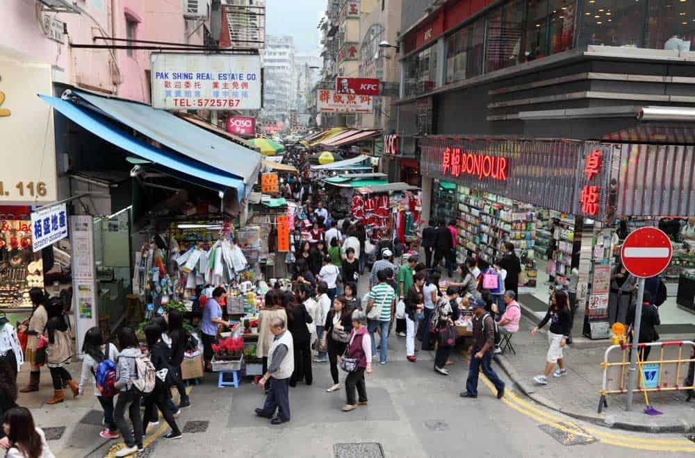 Market in Wan Chai