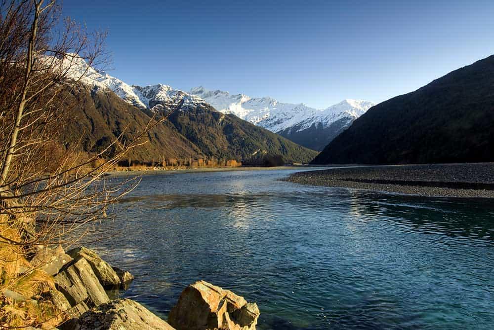 Matukituki River in Mount Aspiring National Park